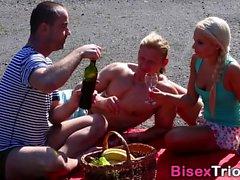 бисексуал блондинка минет