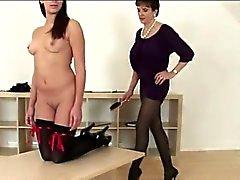 babe brunette lesbian mature spanking