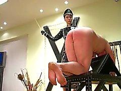 bdsm femdom latex spanking