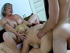 blonde fat fingering granny