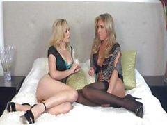 amateur blonde lesbian nylon