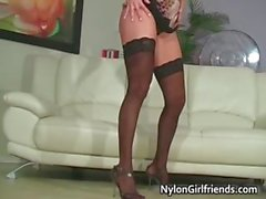 brunette dancing fetish panties pantyhose