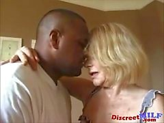 milf anal stockings facial blonde