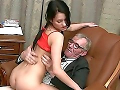 Blowjob for a horny teacher