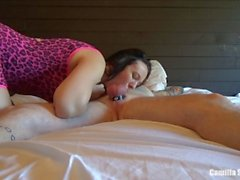 Sloppy Wet Blowjob, Balls Sucking & Cum Swallow.. She's A Hungry Young Mom