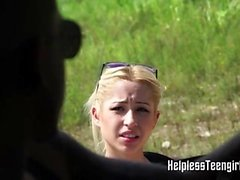 blonde doggystyle hardcore outdoor teen