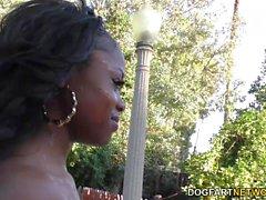 black and ebony interracial threesomes outdoor