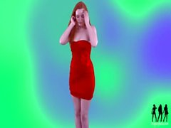 redhead tease strip