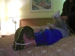 Daddy's Boi gets hogtied and tickled