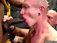 interracial threesome gay bbc