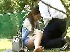 amador asiático boquete japonês ao ar livre