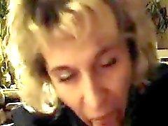 blonde blowjob mature pov