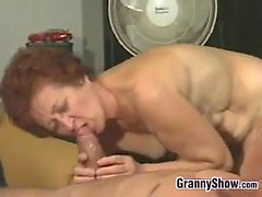 blowjob granny hardcore old young redhead