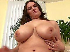 Brertsy mature brunette Olarita strips out of her white lingerie