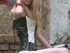 babe blonde fetish hd nylon