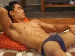 азиатский модель парень ломоть