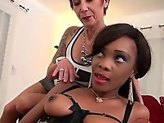 anal babe black and ebony blowjob interracial