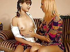 fingering girl on girl kissing