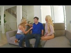 Nice 3some with 2 gourgeous Blondes, Part2 on uniteporn com