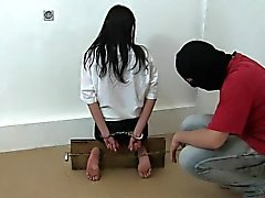 bdsm brunette foot fetish spanking