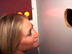 amateur babe blonde blowjob glory hole