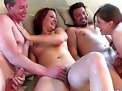 group sex vaginal sex oral sex brunette caucasian