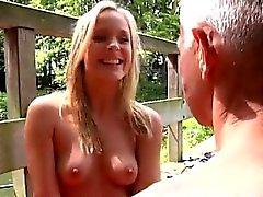big cocks blonde blowjob outdoor small tits