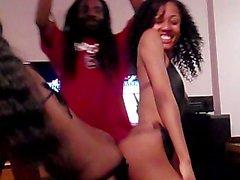 strip teasing big-cock