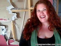 big- tuttar amatör knubbig redhead hemmafru