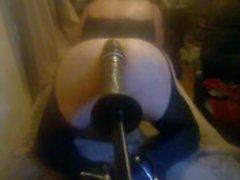 Huge dildo in my arse