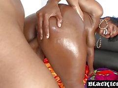 svart och ebenholts cumshots interracial