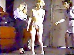 bdsm femdom lésbicas palmada vintage