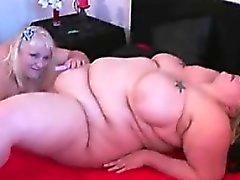 bbw blonde fat fingering lesbian