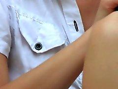 babe brunette fingering lesbian lick