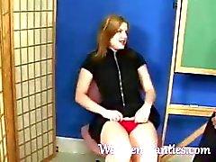 fetisch vingerzetting slipje panty