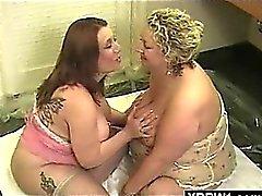 bbw lesbian mature