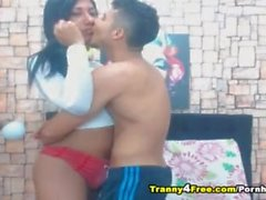 Hot Tranny Having a Passionate Anal Sex with Her Boyfriend