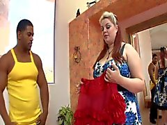 bbw big boobs interracial
