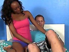 babe black and ebony blowjob handjob