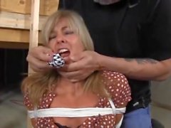 bondage blonde housewife basement