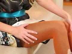 babe masturbation nylon stockings blonde