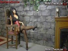 feet stockings nylon mistress femdom