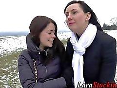 lesbian milf amateur brunette close