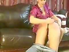 brunette lesbian spanking teen