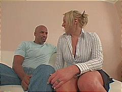 blonde blowjob caucasian couple cum shot