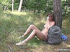 hd masturbação ao ar livre solo
