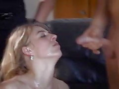 blondes bukkake cum in mouth european