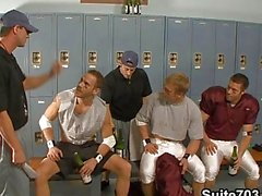 Football team in an orgy