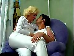 Mature Russian Mom Fucks Sons Friend (amateur mother milf granny olderwoman younger man cumshot blowjob homemade )