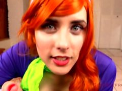 saffron bacchus sexyhalloween2015 point-of-view redhead